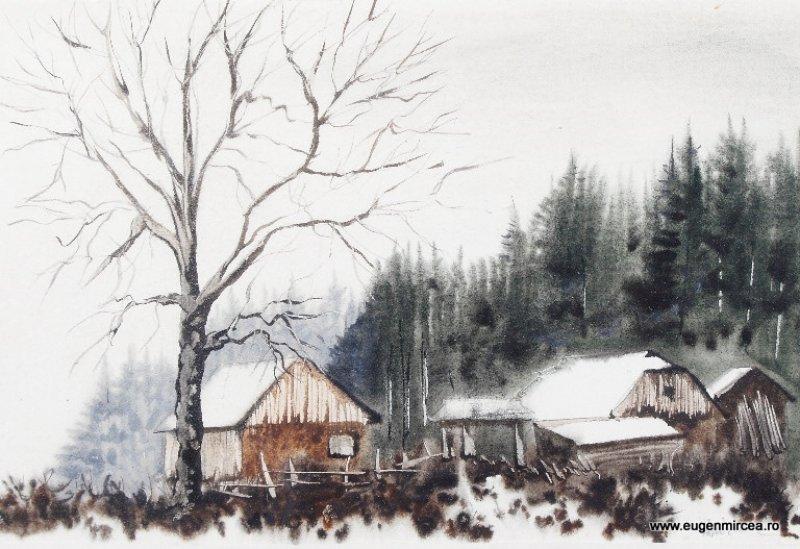 Iarnă în munţi